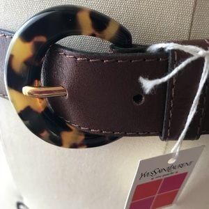 Yves St Laurent vintage leather belt NWT